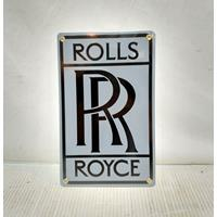 Fiftiesstore Rolls Royce Emaille Bord