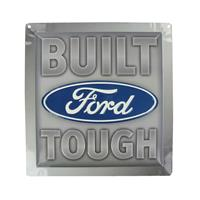 Fiftiesstore Ford Built Tough Die Cut Tin Sign
