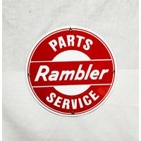 Rambler Service Parts Emaille Bord