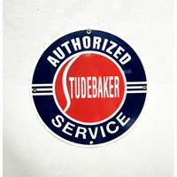 Fiftiesstore Studebaker Authorized Service Emaille Bord