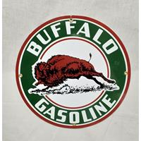 Fiftiesstore Buffalo Gasoline Emaille Bord