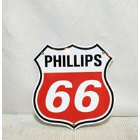 Fiftiesstore Phillips 66 Emaille Bord Schild
