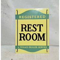 Fiftiesstore Registered Rest Room A texaco Dealer Service Emaille Bord
