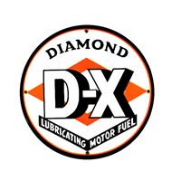 "Fiftiesstore Diamond D-X Emaille Logo Bord 12"" / 30 cm"