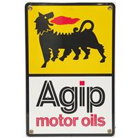 Fiftiesstore Agip Motor Oils Emaille Bord