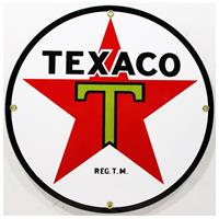 "Fiftiesstore Texaco Ster Logo Emaille Bord 12"" / 30 cm"