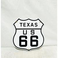 Fiftiesstore Route 66 Texas Emaille Bord