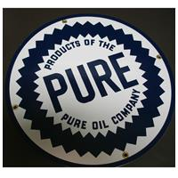 Fiftiesstore Pure Oil Company emaille bord