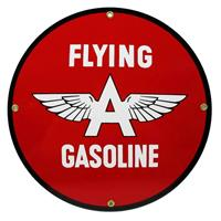"Fiftiesstore Flying A Gasoline Logo Emaille Bord 12"" / 30 cm"