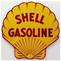 """Fiftiesstore Shell Emaille Bord 12"""" / 30 cm"""