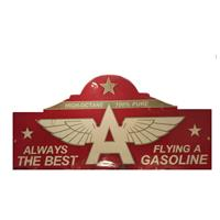 Fiftiesstore Always The Best Flying A Gasoline Metalen Bord