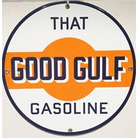 "Fiftiesstore That Good Gulf Emaille Bord 12"" / 30 cm"