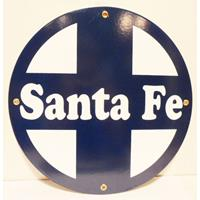 Fiftiesstore Santa Fe Emaille Logo Bord