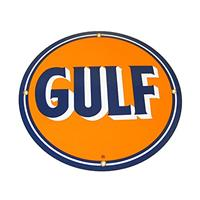 "Fiftiesstore Gulf Logo Emaille Bord 12"" / 30 cm"