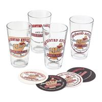 Fiftiesstore The Busted Knuckle Garage Bier of Frisdrank Glazen Cadeau Set