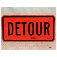 Fiftiesstore Detour Origineel Street Sign