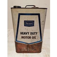 Fiftiesstore Sears Heavy Duty Motor Oil Olieblik - Origineel