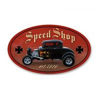 Fiftiesstore Hot Rod Speed Shop Est. 1976 Zwaar Metalen Bord