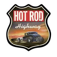 Fiftiesstore Hot Rod Highway Zwaar Metalen Bord