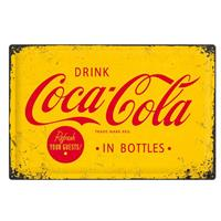 Fiftiesstore Drink Coca-Cola In Bottles Metalen Bord 40 x 60 cm