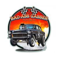 Fiftiesstore Bad-Ass Gasser No Live Fifty-Five Zwaar Metalen Bord