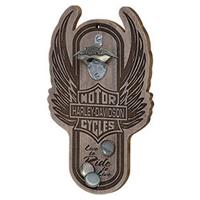 Fiftiesstore Harley-Davidson Winged Bar & Shield Magnetische Flessenopener