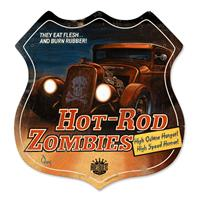 Fiftiesstore Hot-Rod Zombies Zwaar Metalen Bord
