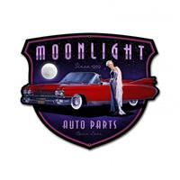 Fiftiesstore Moonlight Auto Parts Zwaar Metalen Bord