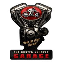 Fiftiesstore The Busted Knuckle Garage V-Twin Zwaar Metalen Bord
