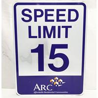 Fiftiesstore Speed Limit 15 Street Sign ARC - Original