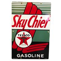 Fiftiesstore Texaco Sky Chief Emaille Logobord