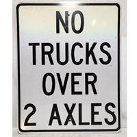 Fiftiesstore No Trucks Over 2 Axles Street Sign - Original