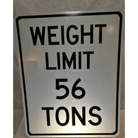 Fiftiesstore Weight Limit 56 Tons Bord - Origineel