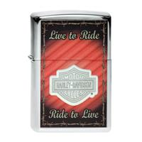 Fiftiesstore Zippo Lighter Harley-Davidson Live To Ride, Barbed Wire
