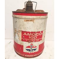 Fiftiesstore Amoco 100 Motor Oil 5 Gallon Olieblik - Origineel