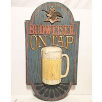 Fiftiesstore Budweiser Beer on Tap PVC Bar Bord - origineel