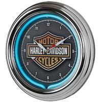 Fiftiesstore Harley-Davidson Essential Bar & Shield Neon Klok