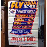Fiftiesstore Fly USOA Advertising Poster (origineel)