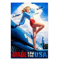 Fiftiesstore Made in the USA American Beauty Zwaar Metalen Bord XL
