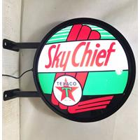Fiftiesstore Texaco Sky Chief Dubbelzijdige LED Lamp - Uithangbord