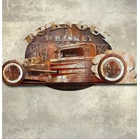 Fiftiesstore 3D Burn Out Whiskey Metalen Wall Art