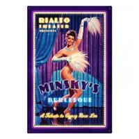 Fiftiesstore Minsky's Burlesque Gypsy Rose Lee Zwaar Metalen Bord XL - Greg Hildebrandt