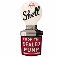 Fiftiesstore Shell From The Sealed Pump Emaille Bord 80 x 37 cm