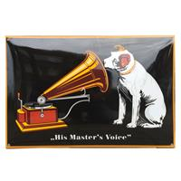 Fiftiesstore His Master's Voice Groot Emaille Bord V.1