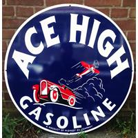 Fiftiesstore Ace High Gasoline Heavy-Duty Bord 76 cm