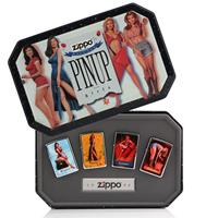Fiftiesstore Zippo Aanstekers - Zippo Salutes Pin Up Girls - Zippo 1996 Collectible Of The Year