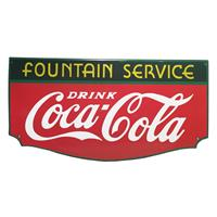 Fiftiesstore Coca-Cola Fountain Service Emaille Bord