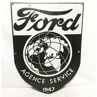 Fiftiesstore Ford Agence Service Emaille Bord - Vroege Replica