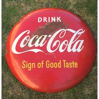 Fiftiesstore Coca-Cola Button - Sign of Good Taste Bord 36""