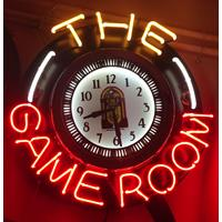 Fiftiesstore The Game Room Neon Klok